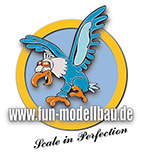 fun-modellbau, Lasercut Holzbaukästen, RC modellbau, lasercutkits, scale zubehör-Logo